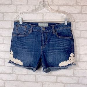 Bit & bridle lace detail shorts size 10